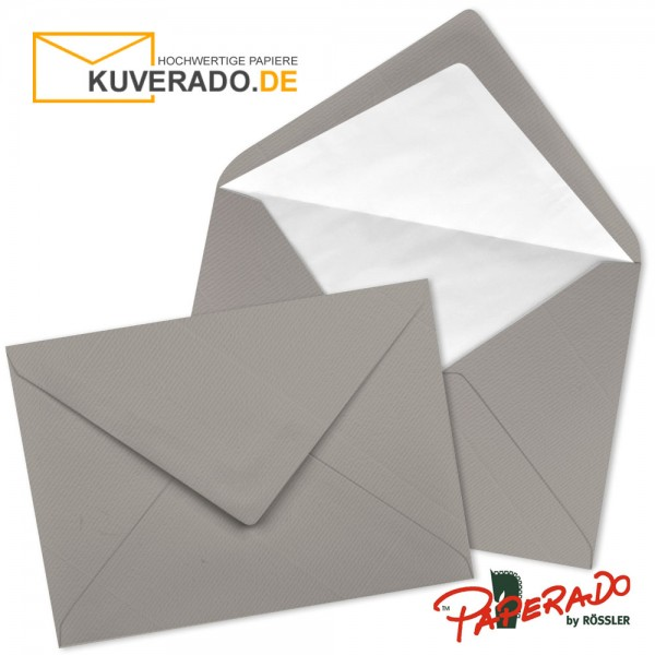 Paperado Briefumschläge in taupe grau DIN B6
