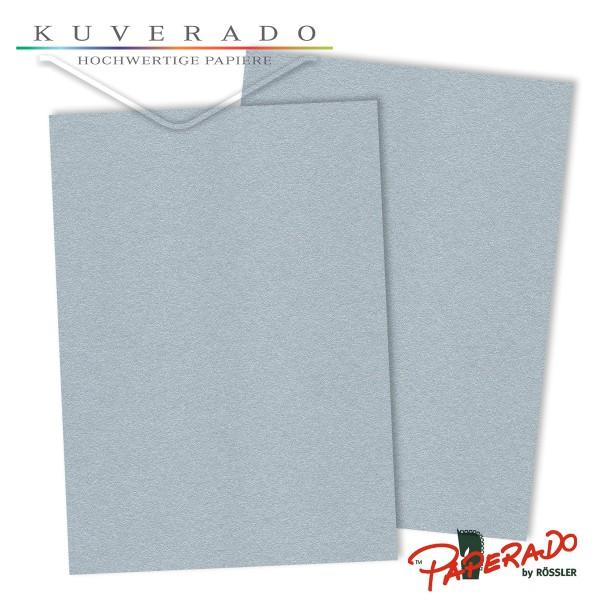 Paperado Briefkarton in silber DIN A4 220 g/qm