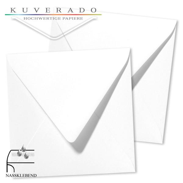 quadratische Briefumschläge in der Farbe weiß genarbt