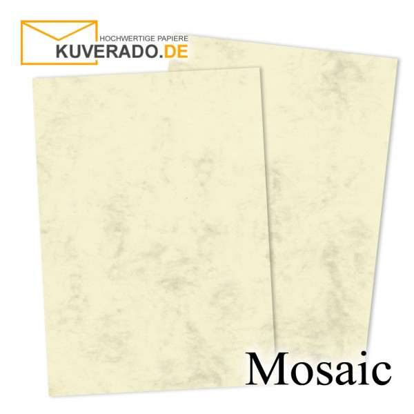 Artoz Mosaic marmorierte Karten in gelb DIN A7