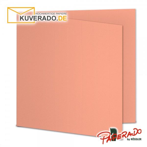 Paperado Faltkarten in coral quadratisch