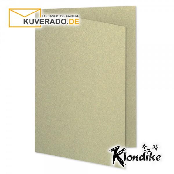 Artoz Klondike Karten in blattgold-metallic DIN E6