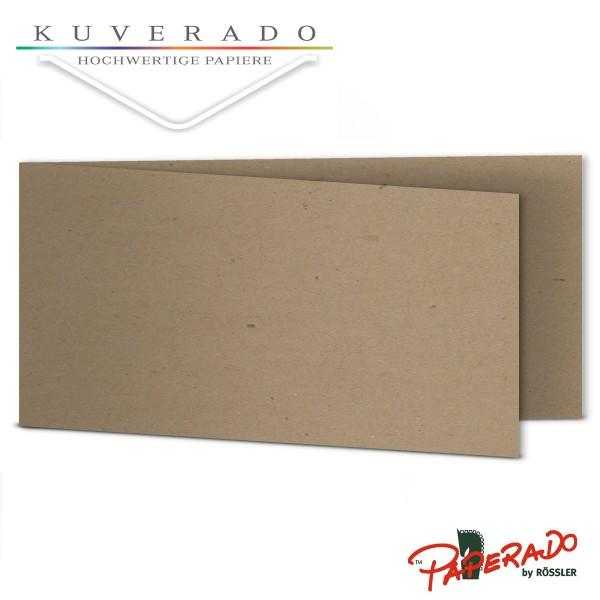 Paperado Karten aus braunem Kraftpapier DIN lang Querformat