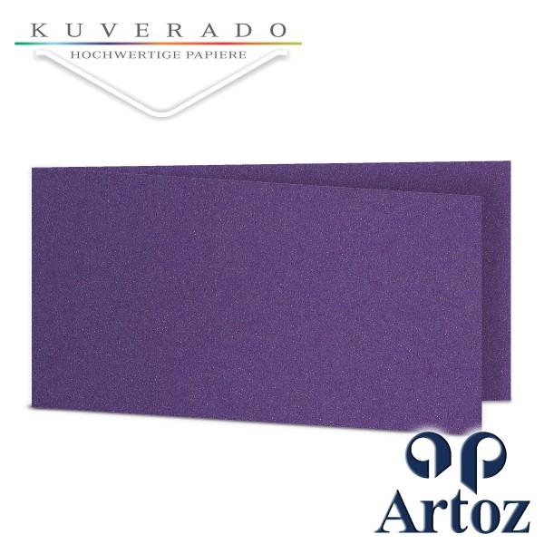 Artoz Klondike Karten in amethyst-metallic DIN lang