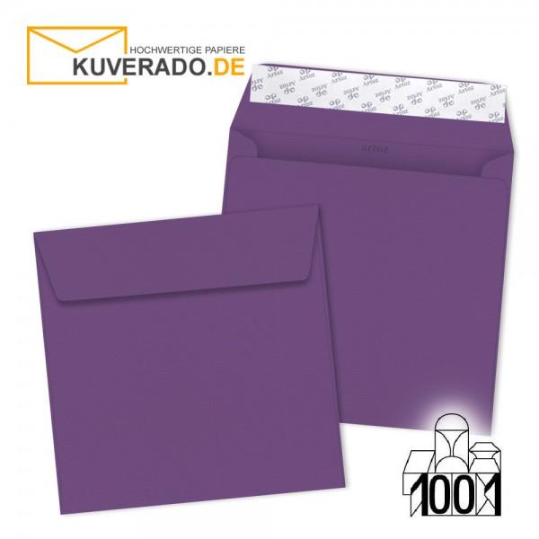 Artoz Briefumschläge violett quadratisch 160x160 mm