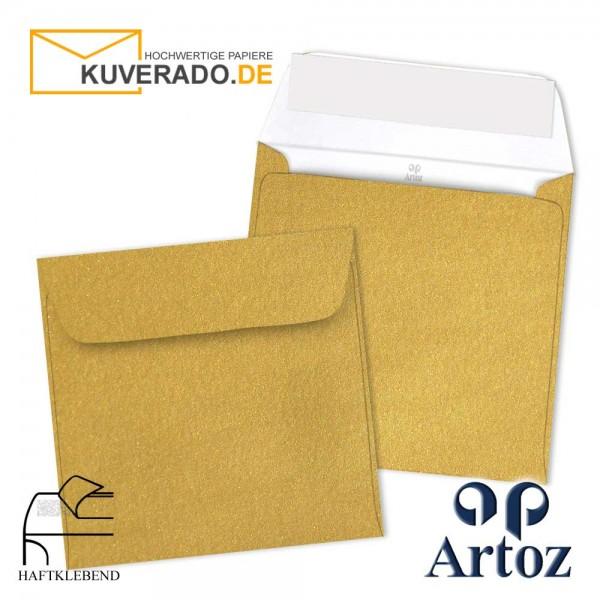 Artoz Mosaic metallic Briefumschläge in gold quadratisch