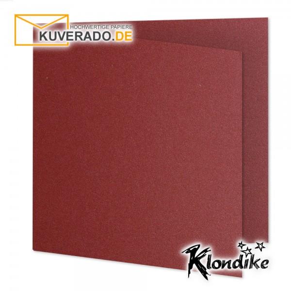 Artoz Klondike Karten in rubin-rot-metallic quadratisch