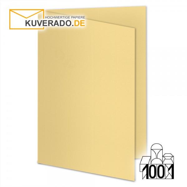Artoz 1001 Faltkarten honiggelb DIN E6 mit Wasserzeichen