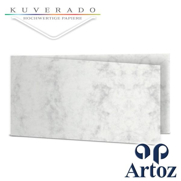 Artoz Antiqua marmorierte Doppelkarten grau DIN lang