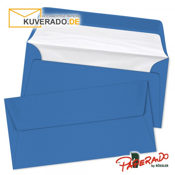 mit Seidenfutter Kuvert Briefumschlag 10 Stück DIN C6 Stahlblau