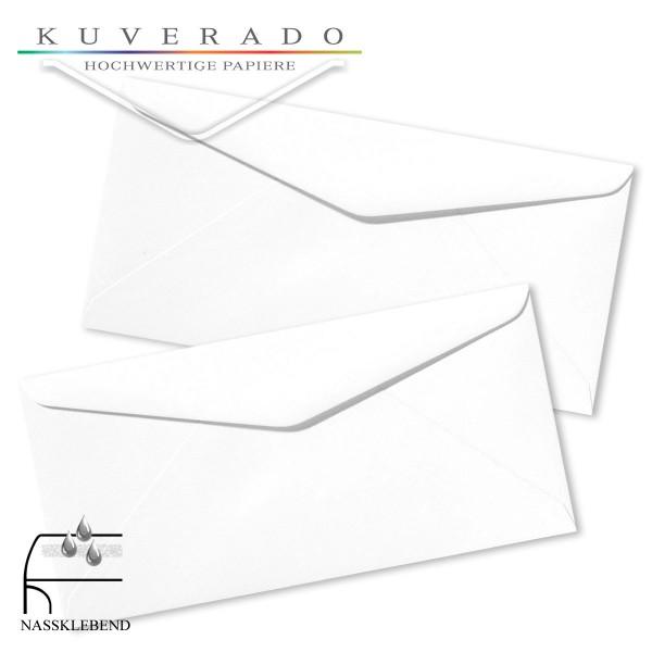 weiße Briefumschläge im Format DIN lang genarbt