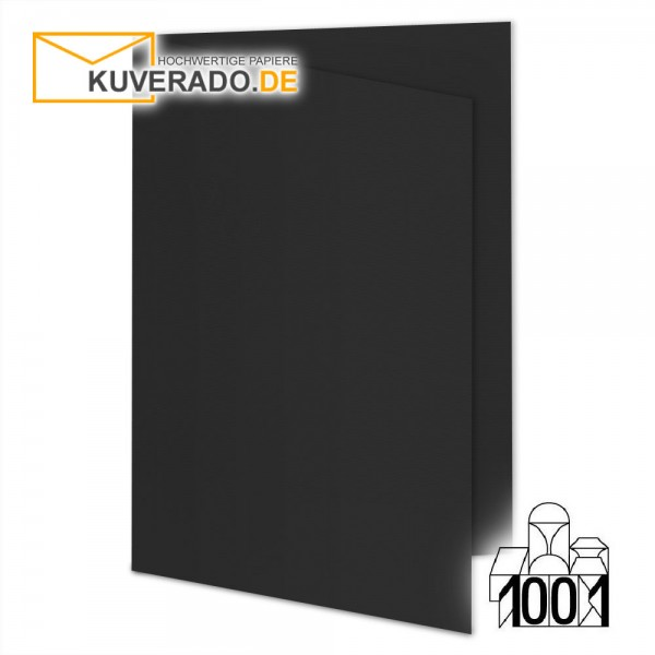 Artoz 1001 Faltkarten schwarz DIN E6 mit Wasserzeichen