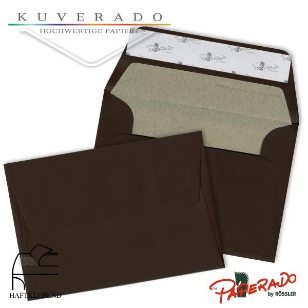 Paperado Briefumschläge chocolate DIN B6