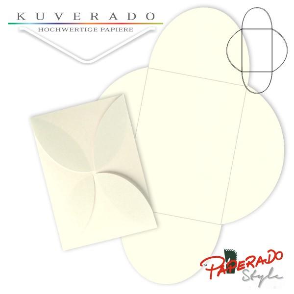 PAPERADO Style - Flügelkarte in ivory beige