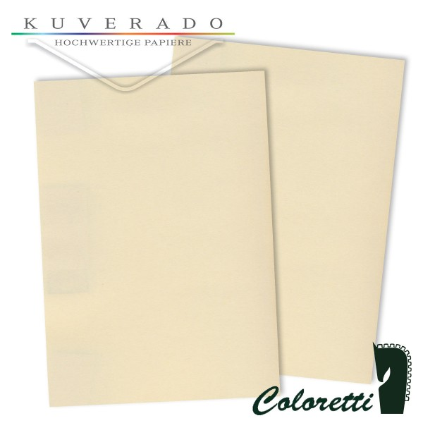 Beiges Briefpapier in creme 80 g/qm von Coloretti