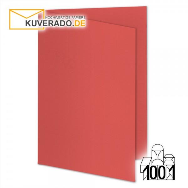 Artoz Doppelkarten wassermelonen-rot DIN A6 mit Wasserzeichen