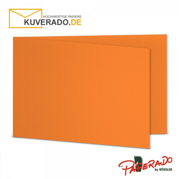 Paperado Karten in orange DIN B6 Querformat