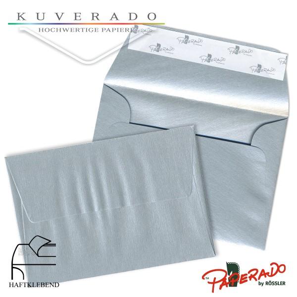 Paperado farbige Briefumschläge in silber DIN C6