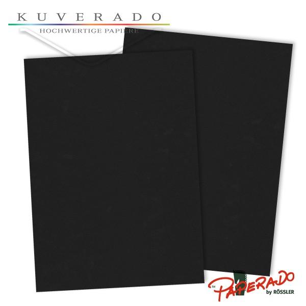 Paperado Briefpapier in schwarz DIN A4 160 g/qm