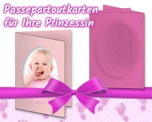 Rosa Passepartoutkarten für Mädchen