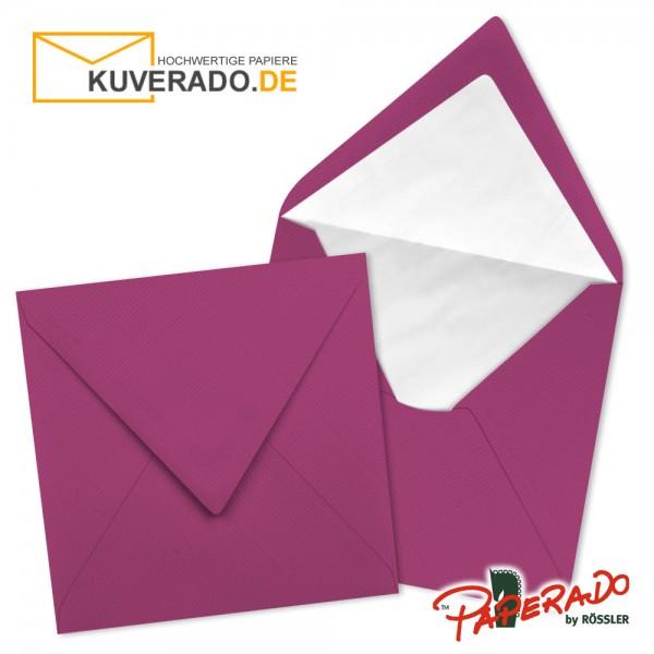 Paperado quadratische Briefumschläge in amarena lila 164x164 mm