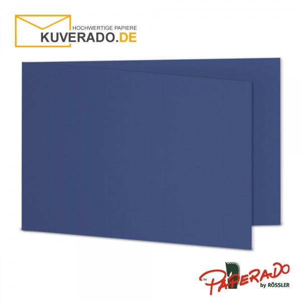 Paperado Karten in jeans blau DIN B6 Querformat