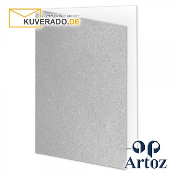 Artoz Mosaic metallic Faltkarten in silber DIN B6