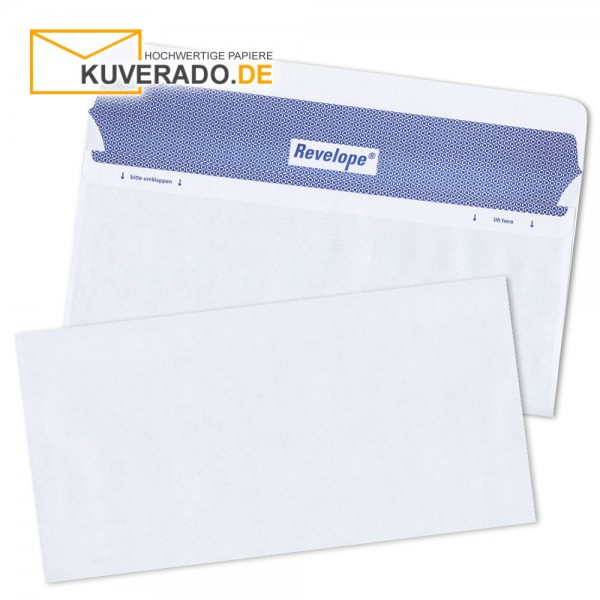 Revelope DIN lang Briefumschläge haftklebend 80g/qm