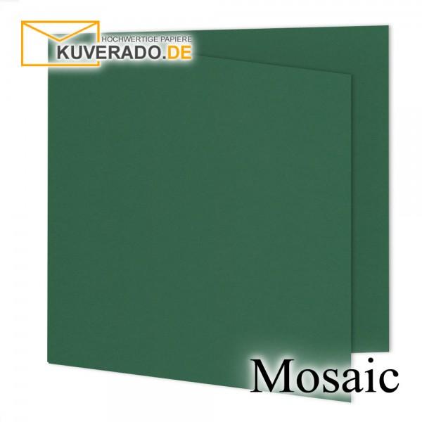 Artoz Mosaic tannengrün Doppelkarten quadratisch