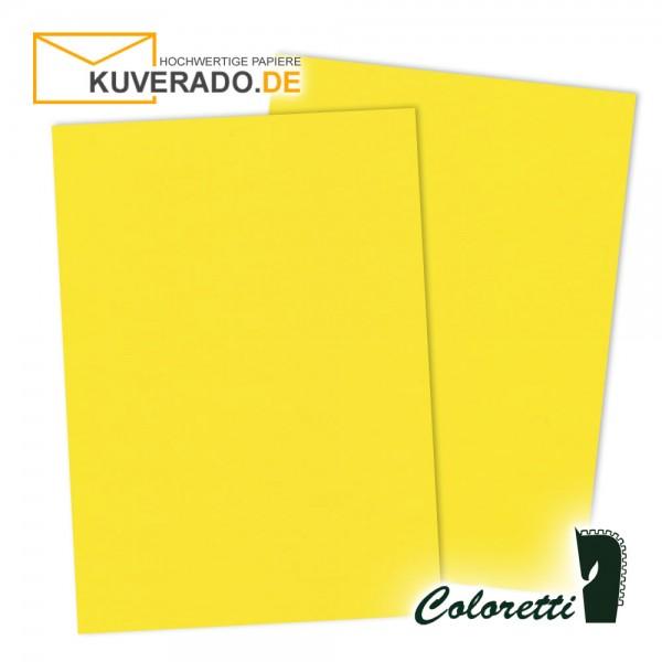 Gelbes Briefpapier in goldgelb 165 g/qm von Coloretti