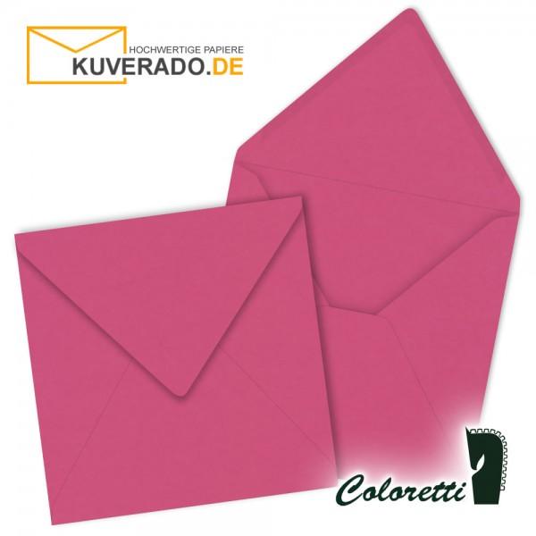 Rosa Briefumschläge in pink quadratisch von Coloretti