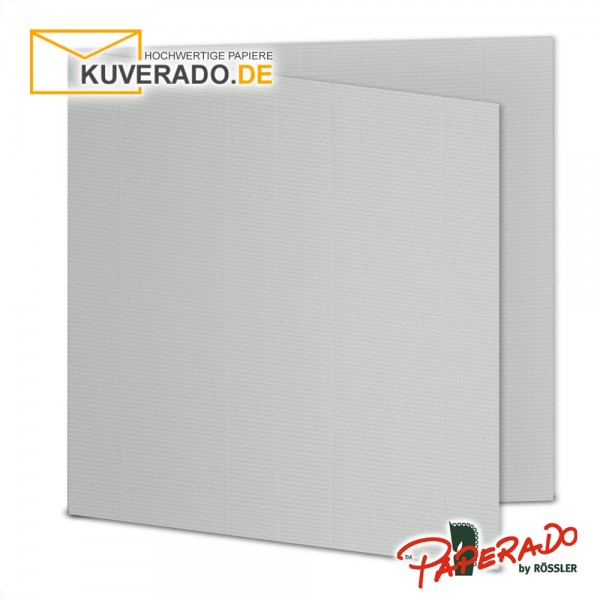 Paperado Karten in eisgrau quadratisch