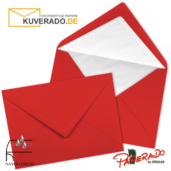 Paperado Briefumschläge in tomatenrot DIN B6