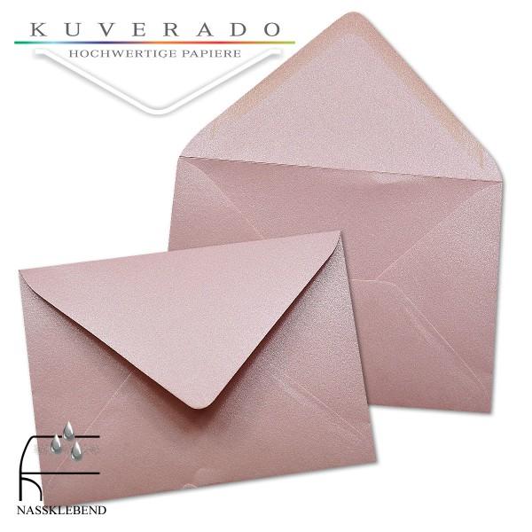 glänzende metallic Briefumschläge in rosa im Format 110 x 156 mm