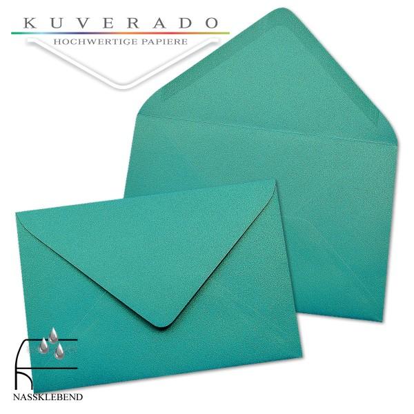 glänzende metallic Briefumschläge in türkis blau im Format 120 x 180 mm
