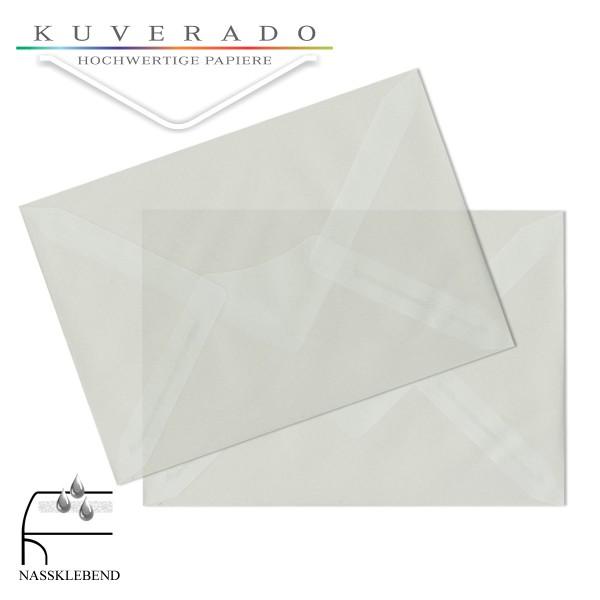transparente Briefumschläge DIN B6 in weiß