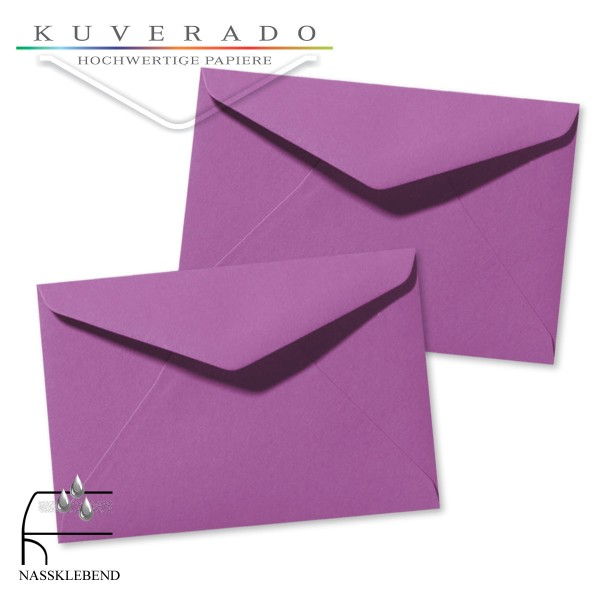 Lila Briefumschläge (violett) im Format 120 x 180 mm
