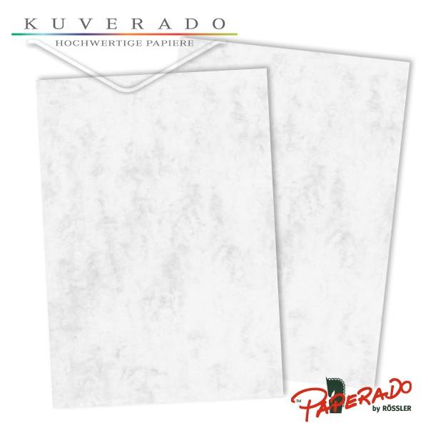 Paperado Briefkarton in grau marmoriert DIN A4 220 g/qm