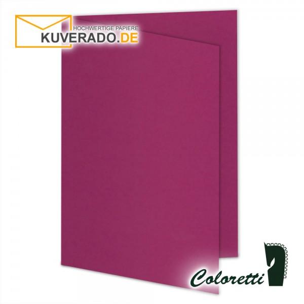 Lila Doppelkarten in amarena 220 g/qm von Coloretti