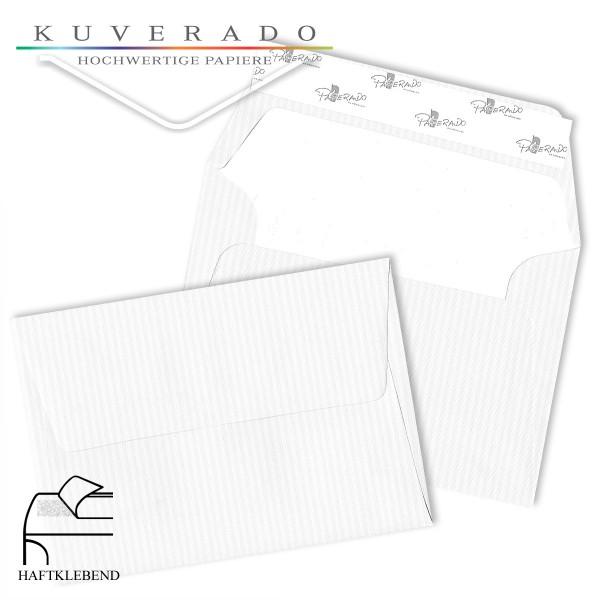 Paperado Briefumschläge in classic-rib weiß C6