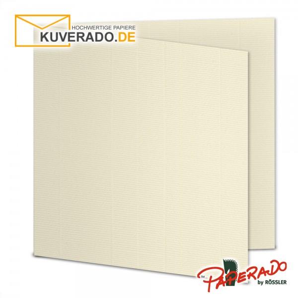 PAPERADO - Beige Karten / Klappkarten in chamois quadratisch 220g/qm