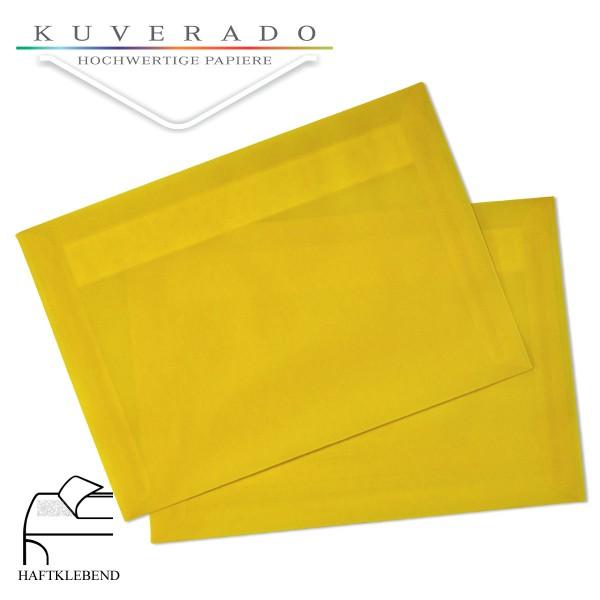 transparente Briefumschläge DIN C6 in gelb