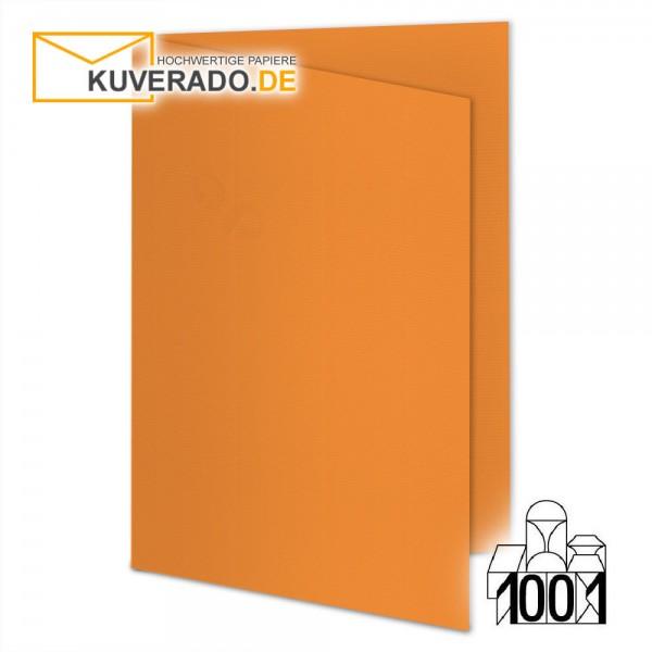 Artoz Doppelkarten orange DIN A6 mit Wasserzeichen