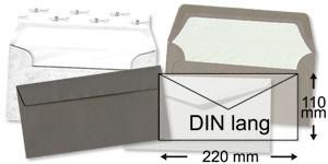 110x220 mm (DIN lang)   grau