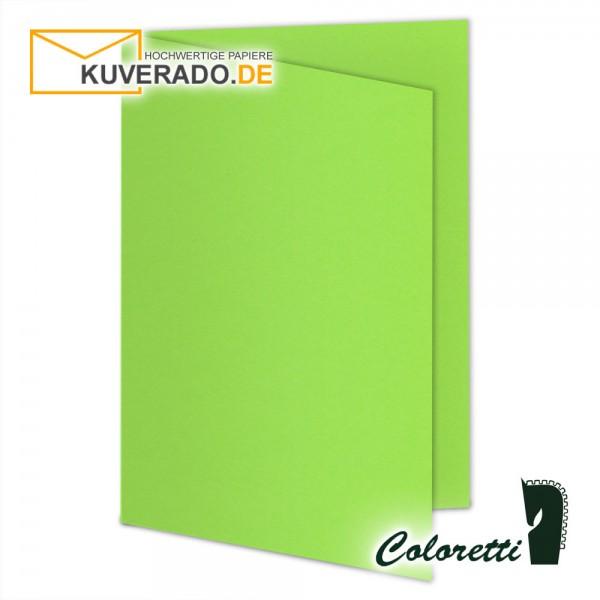Grüne Doppelkarten in 220 g/qm von Coloretti