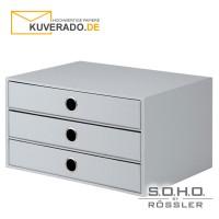 """S.O.H.O. 3er Schubladenbox für DIN A4 in der Farbe """"stone"""""""