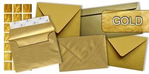 Goldene Briefumschläge