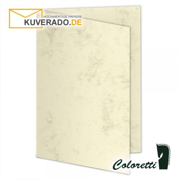 Beige marmorierte Doppelkarten in chamois 220 g/qm von Coloretti