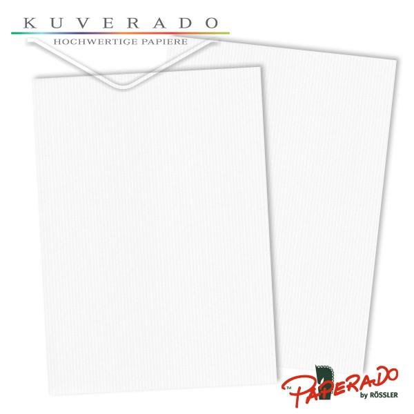 Paperado Briefkarton in classi-rib weiß DIN A4 220 g/qm