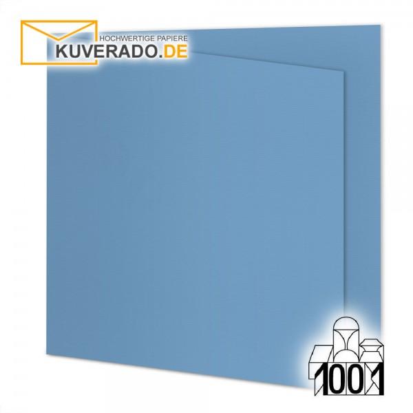 Artoz 1001 Faltkarten marienblau quadratisch 13x13 cm mit Wasserzeichen